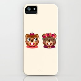 Jumelles castor iPhone Case