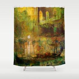 The gondolier of Brooklyn Shower Curtain