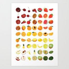 Fruits Galore Art Print