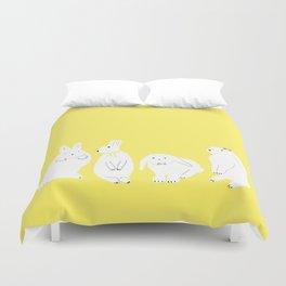 cute bunnies Duvet Cover