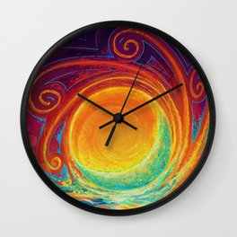 Sun Moon & Stars Wall Clock