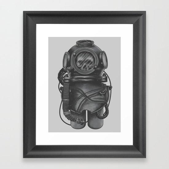 The Dead Diver Framed Art Print