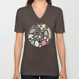 carefully arranged  Unisex V-Neck