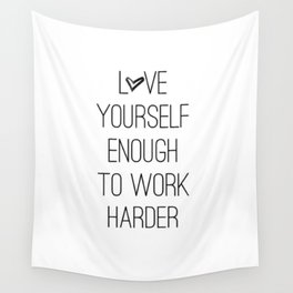 Love yourself Wall Tapestry