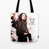 code Tote Bags featuring Code by Amy Mancini