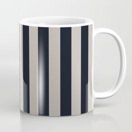 Vertical Stripes Black & Warm Gray Coffee Mug