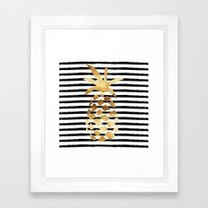Pineapple & Stripes Framed Art Print