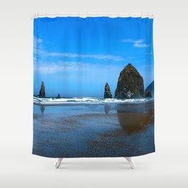 Haystack Rock Cannon Beach Shower Curtain
