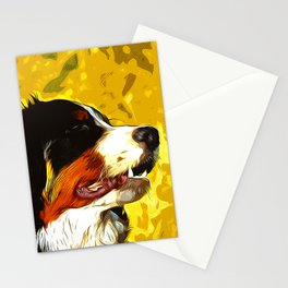bernese mountain dog vector art Stationery Cards