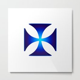 Glowing symbol Cross Pattee (Christianity) Metal Print