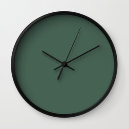 Dunn and Edwards 2019 Curated Colors Mission Jewel (Dark Muted Green) DET539 Solid Color Wall Clock