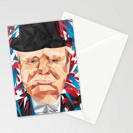 Portrait of Sir Winston Churchill Stationery Cards