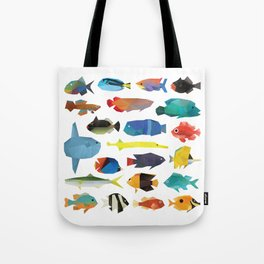 Tropical Fish chart Tote Bag