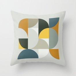 Mid Century Geometric 13 Throw Pillow