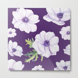 Anemones Purple #society6 #buyart Metal Print