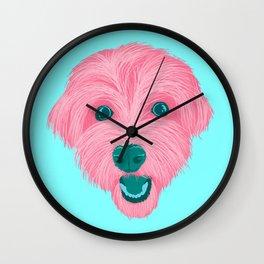 havanese - aqua Wall Clock