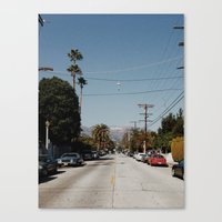 hollywood Canvas Prints featuring Hollywood by Ed Pulella