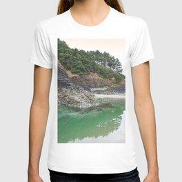 Oregon Coast Tide Pool Green Glowing Forest Coastal Cliff Rocky Landscape Beach Northwest Volcano T-shirt