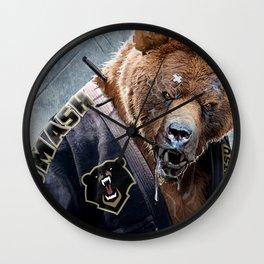Jiu Jitsu Grizzly Wall Clock