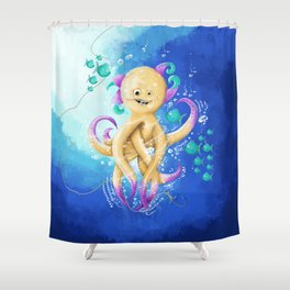 OCTOPUS MONSTER Shower Curtain