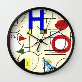 H Collage Wall Clock