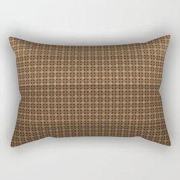 Brown plaid Rectangular Pillow