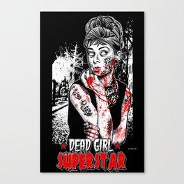 "DEAD GIRL SUPERSTAR ""UNGODLY HEPBURN"" Canvas Print"