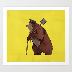 Worker Bear Art Print