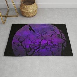 Purple Gothic Moon Rug