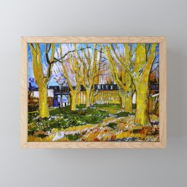 Avenue of Plane Trees near Arles Station, Vincent van Gogh Framed Mini Art Print