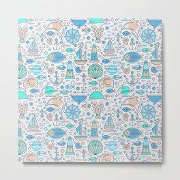 Sea pattern no1 Metal Print