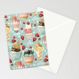 Sundae Daze on Pastel Turquoise Stationery Cards