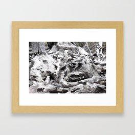 Just Driftwood Framed Art Print