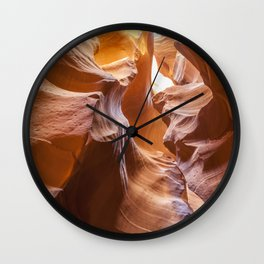 ANTELOPE CANYON Waves Wall Clock
