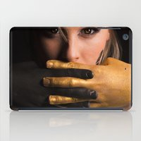 black and gold iPad Cases featuring Black & Gold by Levi Price