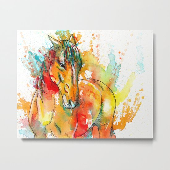 The Spirit of a Horse Metal Print
