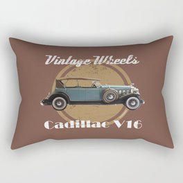 Vintage Wheels - Cadillac V16 Rectangular Pillow