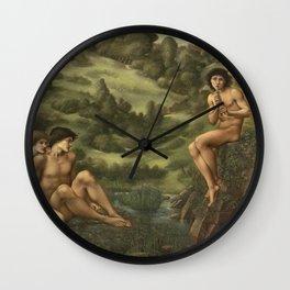 Edward Burne-Jones - The Garden Of Pan Wall Clock