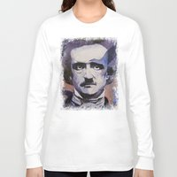 edgar allan poe Long Sleeve T-shirts featuring Edgar Allan Poe by Michael Creese