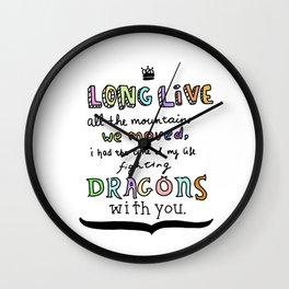 Long Live Design Drawing Wall Clock