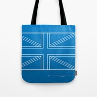 blueprint Tote Bags featuring Blueprint Jack by Tom Schoffelen