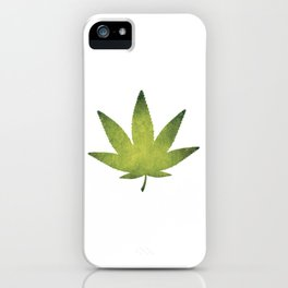 Nice Cannabis Tee For High People Pot Medical Weed T-shirt Design Marijuana Medication Legalized iPhone Case
