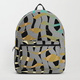 Wavy Mosaic Organic Weave Abstract Backpack