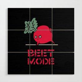 BEET MODE Wood Wall Art