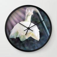 the shining Wall Clocks featuring Shining Light by Lynn Bolt