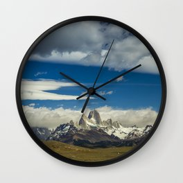 Fitz Roy in a summer day Wall Clock