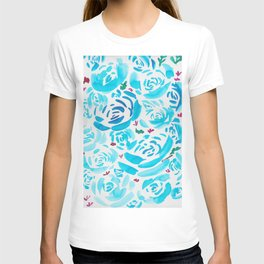 5     190412 Flower Abstract Watercolour Painting T-shirt