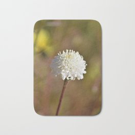 Desert White Wildflower Bloom by Reay of Light Photography Bath Mat