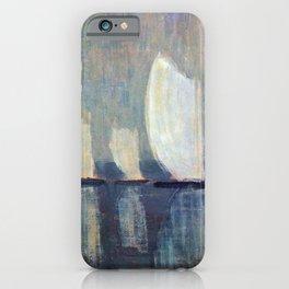 Sailboats on Mirrored Glass Seas nautical landscape by Mikalojus Konstantinas Ciurlionis iPhone Case