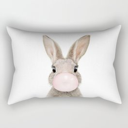 Bubble Gum Rabbit Rectangular Pillow